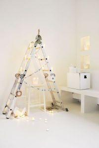 árboles de navidad originales con elementos reciclados