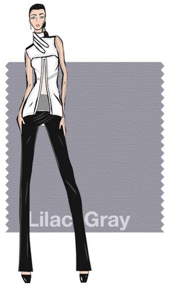 Lila gris como color de moda en primavera