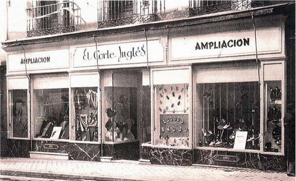 Primeros escaparates de El Corte Ingles en Madrid