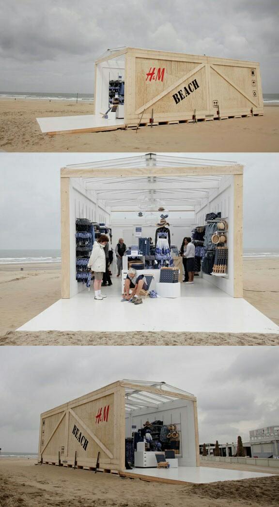 Decoración de tiendas en arena y blanco
