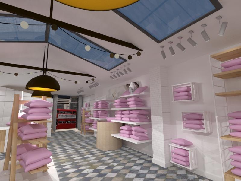 Infoarquitectura 3d realista para el diseño de espacios comerciales ...